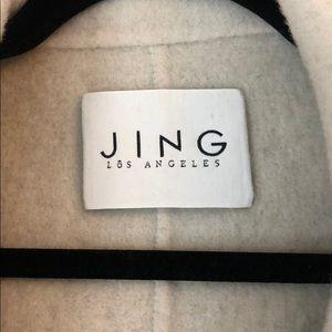 jing Jackets & Coats - Grey and cream wool coat!